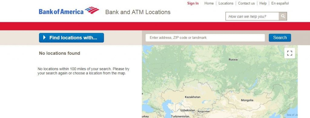 Bank of America Locations Near Me