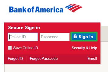 Bank of America Online Login via PC