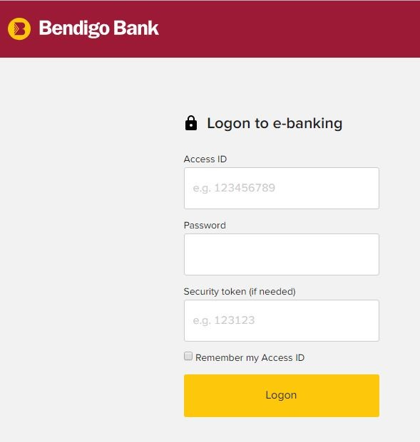 Bendigo Bank Online Login