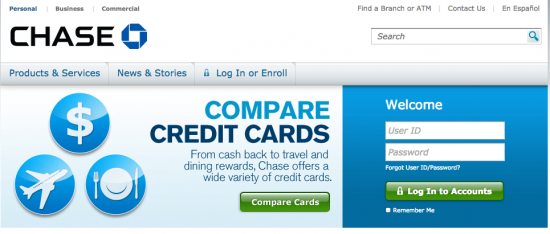 Chase Bank Online Login Page