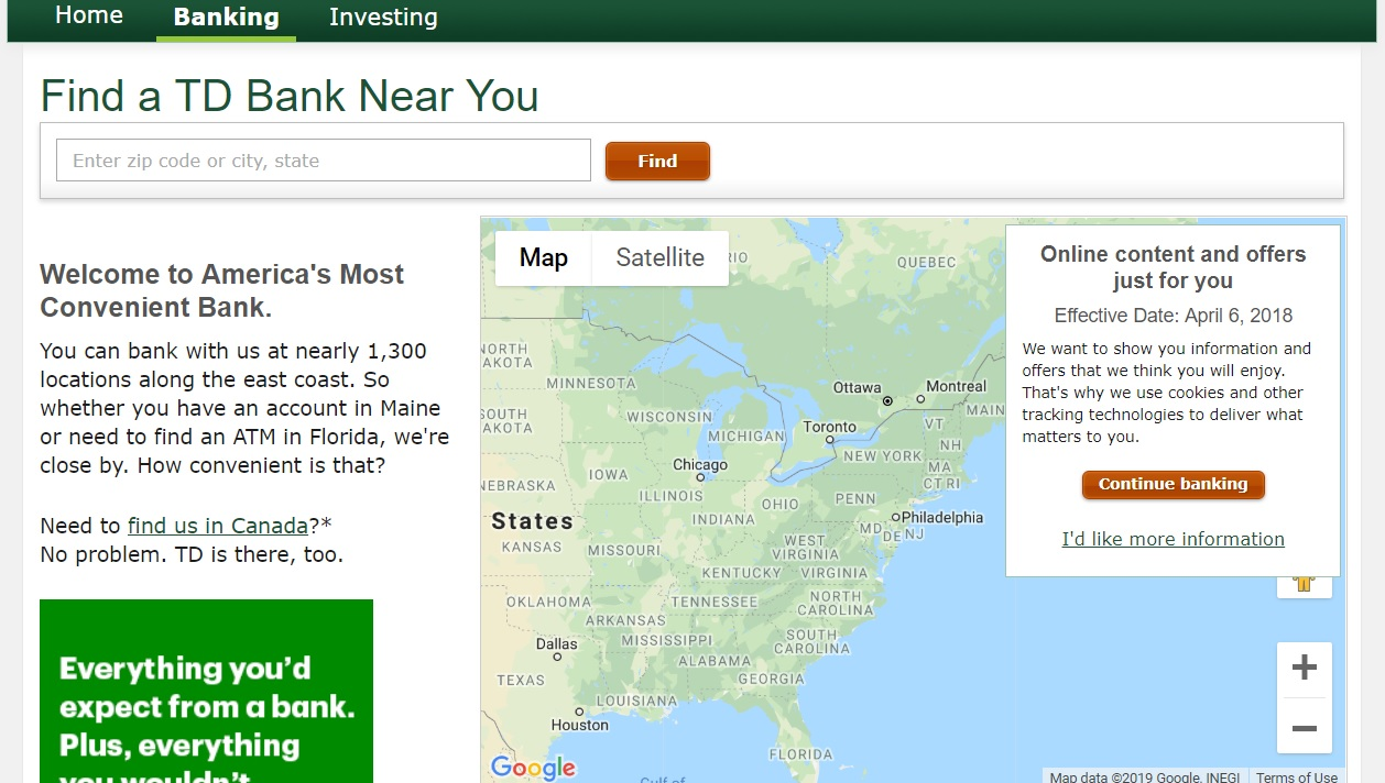 How to Find Nearest TS Bank Location?