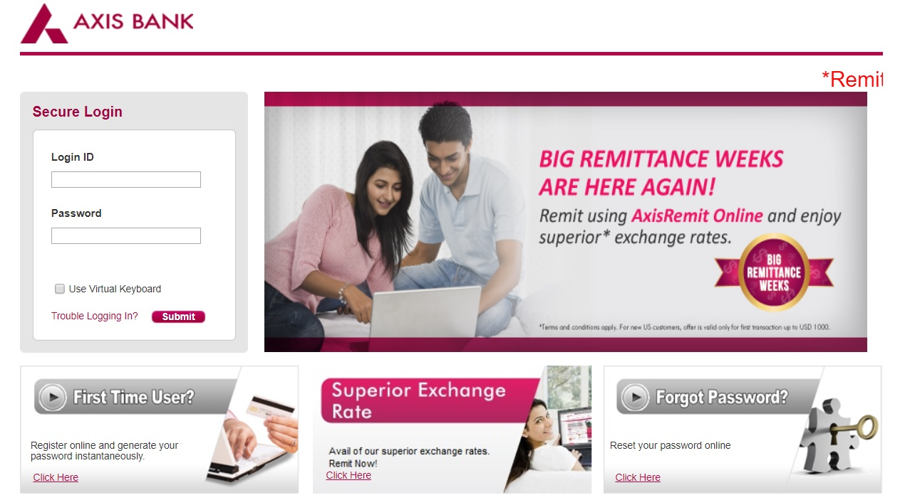 Axis Bank Login