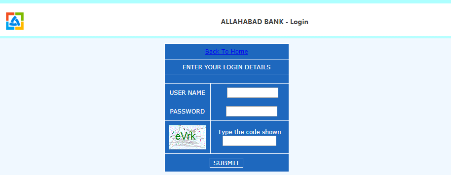 Allahabad Online Banking Login