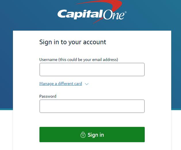 Capital One bank UK login