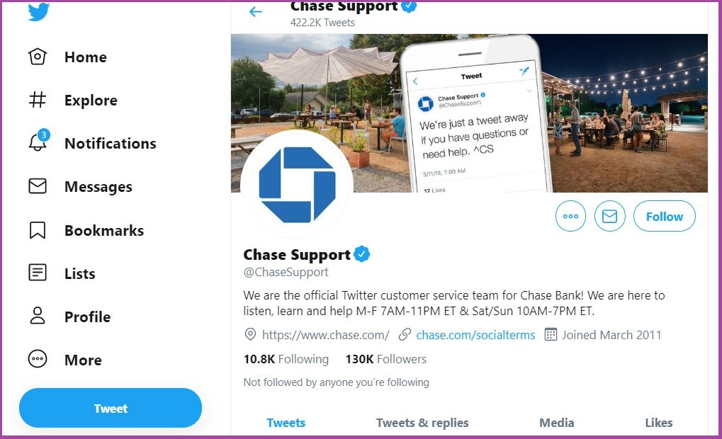 Chase Bank Customer Service Number and Contacts