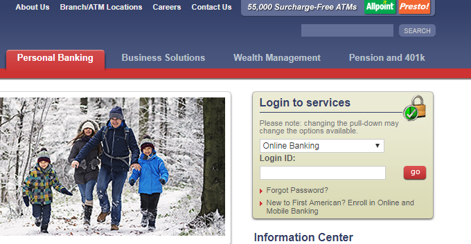 First American Bank Login