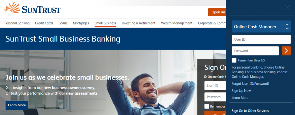 SunTrust Small Business Login