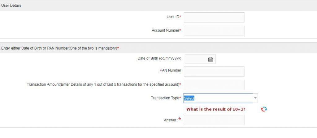 Union Bank of India Online Bank Login Reset Password