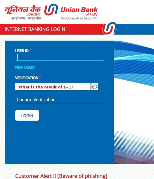Union Bank of India Online Bank Login